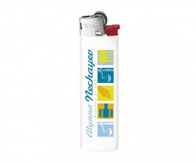 BIC Feuerzeuge Werbepräsent J23 Lighter mit Reibrad weiss