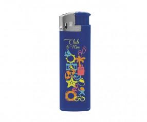 BIC J38 Elektronikfeuerzeug Werbeartikel Chrome Blau