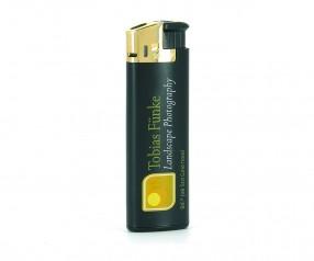BIC Feuerzeug J38 Lighter Elektronikfeuerzeug mit Logo SCHWARZ GOLD
