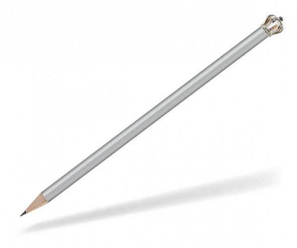 Reidinger Bleistift Werbeartikel mit Krone silber Silber König