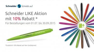Schneider Kugelschreiber Like mit 10% Rabatt auf den Gerätepreis