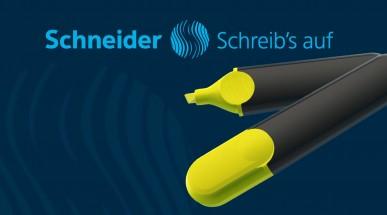 Schneider Textmarker, Marker, Tintenroller, Fineliner mit Logo bedruckt