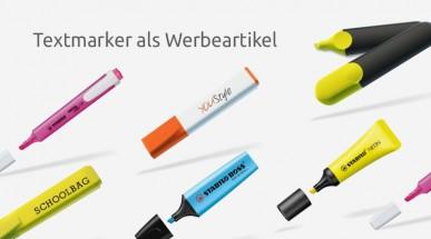 Textmarker Werbeartikel - Auffällig, nützlich und wirksam