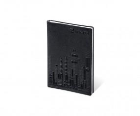 Brunnen 3D Flexi Notes A6 Notizbuch mit geprägtem Cover schwarz