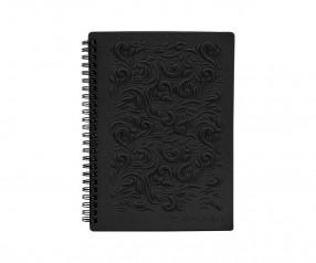 Brunnen 3D Flexi Notes A5 Notizbuch mit Prägecover und Wire-O schwarz