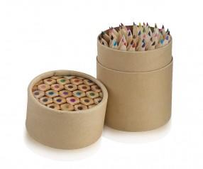 Buntstifte Box mit 48 Holzstiften im Set aussen bedruckbar
