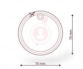 Lufterfrischer bedrucken als Werbemittel FORM 013 Kreis