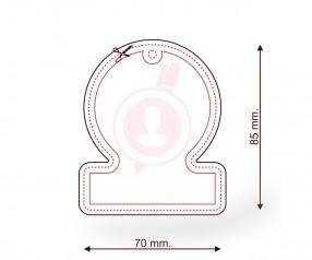 Duftbaum mit Logo als Streuartikel FORM 050 Rechteck mit Kreis