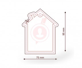 Raumerfrischer mit Logo als Werbemittel FORM 081 Haus