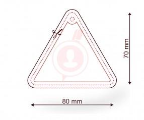 Raumerfrischer mit Logo als Streuartikel FORM 082 Dreieck