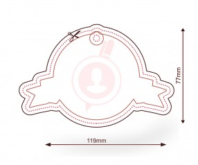 Duftbaum mit Logo als Werbemittel FORM 1076 Logoform