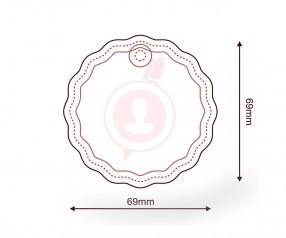 Duftbaum mit Druck als Werbegeschenk FORM 1171 Kreis geriffelt