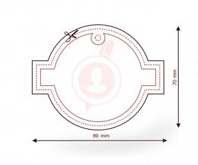 Raumerfrischer bedrucken als Streuartikel FORM 168 Kreis mit Rechteck