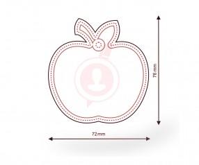 Duftbaum bedrucken als Werbemittel FORM 349 Apfel