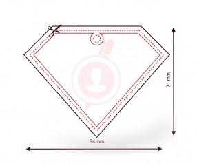 Lufterfrischer mit Logo als Werbeartikel FORM 632 Diamant