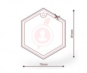 Lufterfrischer mit Logo als Werbemittel FORM 711 Sechseck