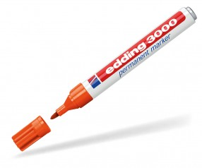 edding 3000 bzw. 3300 Permanentmarker orange