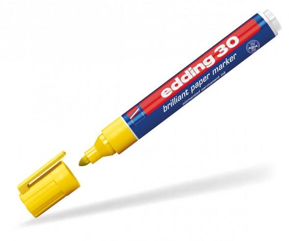 edding 30 bzw. 33 Pigmentmarker permanent gelb