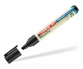edding EcoLine 32 Nachhaltiger Flipchartmarker schwarz 001 mit Keilspitze