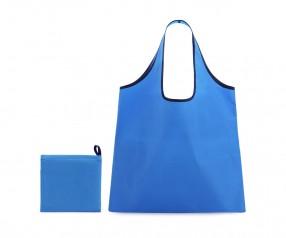 Werbeartikel Einkaufstasche zum Falten aus Polyester 7001 blau