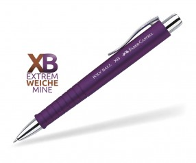 Faber-Castell Poly Ball XB Kugelschreiber Softtouch 24 11 37 pflaume