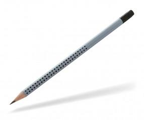 Faber-Castell Werbebleistift Grip 2001 Dreieckform mit Radierer 21 72 00 silber