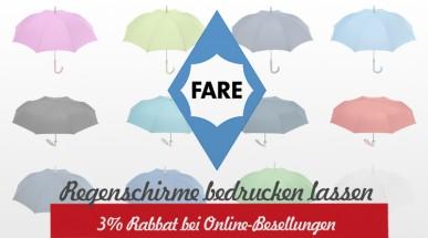 Regenschirme als Werbeartikel: Gestalten Sie jetzt die hochwertigen Schirme der Marke FARE nach ihren Vorstellungen
