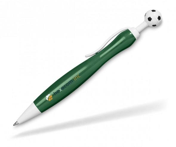 Fußball Werbekugelschreiber mit Aufdruck - grün 10710204