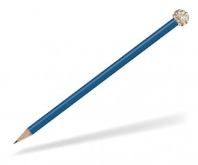 Reidinger Glamour Bleistift blau Glitzerkugel gold weiss