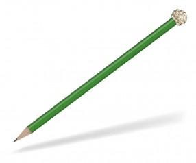Reidinger Glamour Bleistift grün Glitzerkugel gold weiss