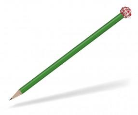 Reidinger Glamour Bleistift grün Glitzerkugel silber rot