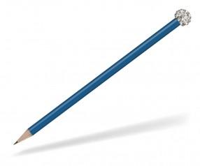 Reidinger Glamour Bleistift blau Glitzerkugel silber weiss