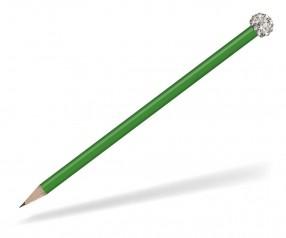 Reidinger Glamour Bleistift grün Glitzerkugel silber weiss