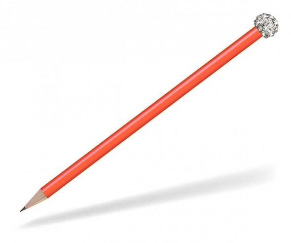 Reidinger Glamour Bleistift orange Glitzerkugel silber weiss