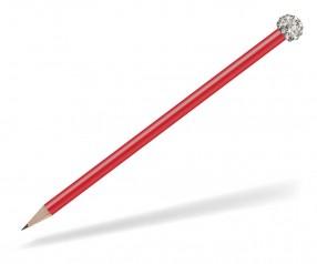 Reidinger Glamour Bleistift rot Glitzerkugel silber weiss