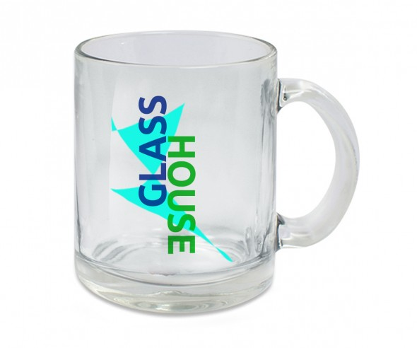 Glastasse incl High-Quality Druck 10 OZ klar