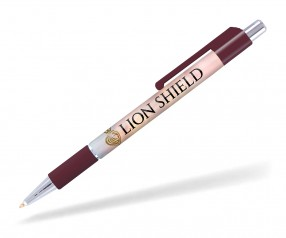 Goldstar Astaire Chrome Kugelschreiber mit Grip Pantone 504 Bordeaux PGR