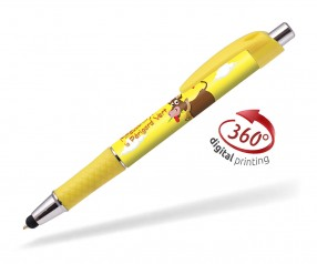 Goldstar Flynn CND 360 Grad Rundumdruck Kugelschreiber Pantone 107 Gelb