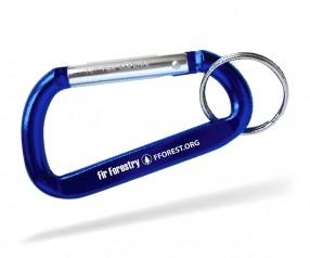 Karabiner Werbegeschenk Schlüsselanhänger Goldstar EASTWOOD dca inkl Gravur blau Pantone 286
