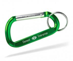 Karabiner mit Logo Schlüsselanhänger Goldstar EASTWOOD dca inkl Gravur grün Pantone 2272