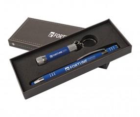 Goldstar Morrison & McQueen Soft-Touch Geschenkset DWU Blau (PMS 2146)