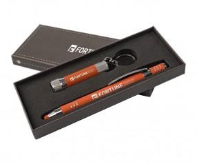 Goldstar Morrison & McQueen Soft-Touch Geschenkset DWU Orange (PMS 2026)