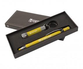 Goldstar Morrison & McQueen Soft-Touch Geschenkset DWU Gelb (PMS 123)