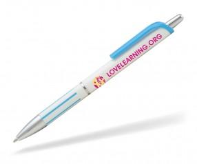 Goldstar Elton ABE Kunststoff Kugelschreiber Pantone 2191 Hellblau