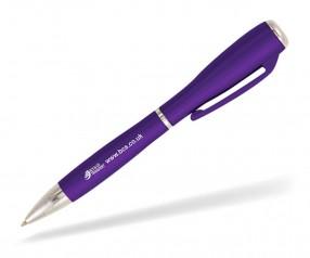 Goldstar J Brown LZC Kugelschreiber mit Licht Pantone 2597 Violett