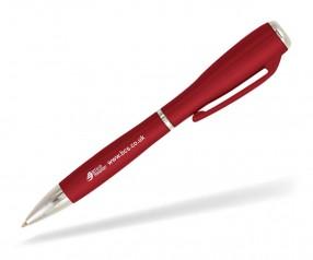 Goldstar J Brown LZC Kugelschreiber mit Licht Pantone 187 Rot