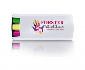 Goldstar Loren Wax Textmarker Set HAL Wachs Leuchtstifte Werbegeschenk INKLUSIVE DRUCK