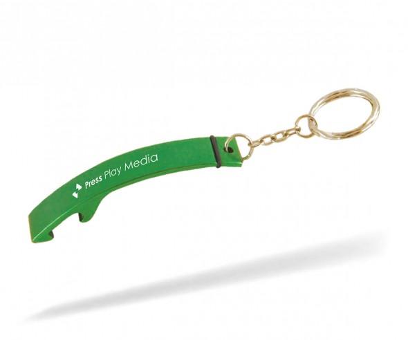 Goldstar CRUISE lcm Flaschenöffner Schlüsselanhänger Werbeartikel INKL GRAVUR grün 355c