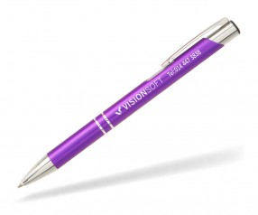 Goldstar Crosby Kugelschreiber MATT LJK incl Gravur Pantone 2603 violett