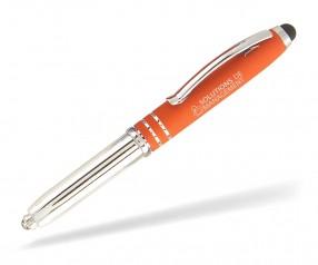 Goldstar COOPER LNH Softtouch Kugelschreiber mit LED Lampe incl Gravur Pantone 021 orange
